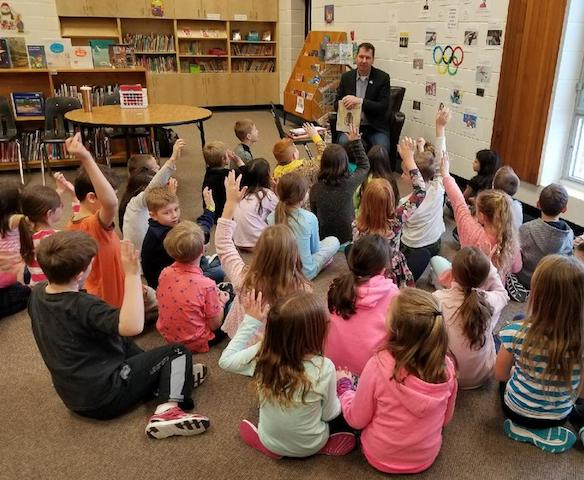 1 Local Mla Reads To Students Pic